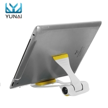 YUNAI 360 Rotating Bed Desk Stand Holder For iPad 2 3 4 Air Mini Light Portable Tablet Holder Flexible Stand Mount For Mobile