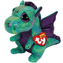 "Pyoopeo Ty Beanie Boos 6"" 15cm Cinder The Green Dragon Plush Regular Stuffed Animal Collectible Soft Doll Toy"
