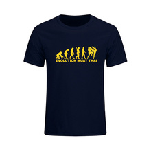 Evolution T-Shirt Ultimate Fighting Muay Thai Hardcore Fight T Shirt Fun Funny Cotton Tops Tees Summer New Fashion T-shirts(China)