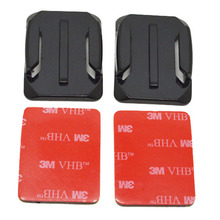 SHOOT Camera Accessories Set Flat and Curved Base Adhesive Mount Ellips Square 3M VHB Stickers For Go Pro 324 Session Xiao yi 4K(China)