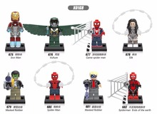 Super Heroes Iron Man Vulture Game Spider Man Masked Robber Silk Building Blocks Bricks Children Gift Toys Compatible with Legoe