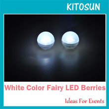 Fairy LED Pearls! 12pieces/ lot White/ Warm White/ Red/Green/ Blue/ Purple/Pink/Lime/ Teal/ Amber/ RGB Mgical LED Berries Light(China)