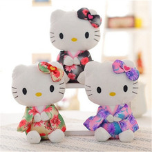 1 Pcs kawill The Japanese Kimono Hello Kitty Plush Toys Baby Toy Hello Kitty doll Girls Christmas gifts 20cm