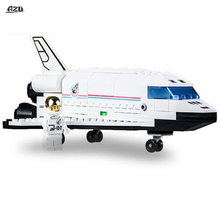 2017 New Space Series Discovery Space Shuttle Toys Mini Children Educational Building Blocks Toys Compatible With Bricks(China)