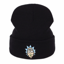 Rick Beanies Rick and Morty Hats Elastic Brand Embroidery Warm Winter Unisex Knitted Hat Skullies US Animation Ski Gorros Cap(China)