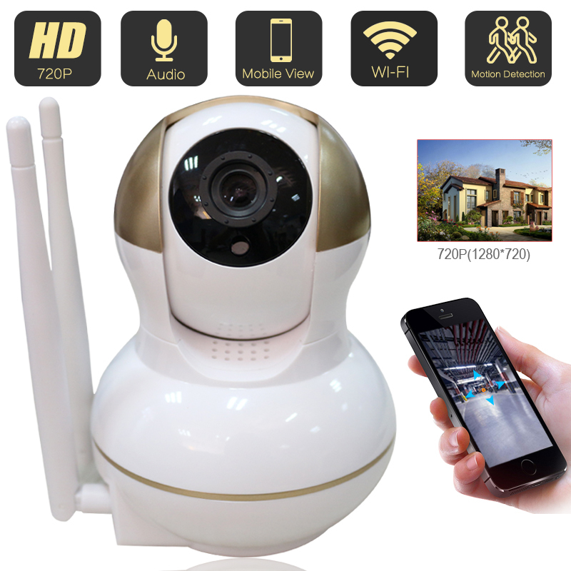 Home Security 720P IP Camera Wireless WiFi Surveillance Night Vision CCTV Baby Monitor Camera<br>