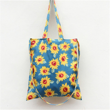 Free Shipping New Arrival Japan Casual tyle Cotton Women Messenger Bags Blue White Sunflower Women Shoulder Bags Handbags S11