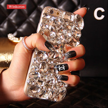 For iphone 7 plus Case 3D Luxury Bling Crystal DIY Diamond Case Cover For iphone 6 7 6s plus(China)