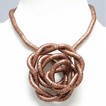 Manufacture 5mm 90cm Copper Plated Iron Bendable Flexible Bendy Snake Necklace,10pcs/pack(China)