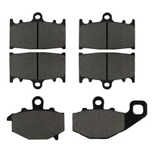 Motorcycle Front and Rear Brake Pads for KAWASAKI ZZ-R 400 ZZR400 (ZX 400 N) 1993-1999 Black Brake Disc Pad Kit