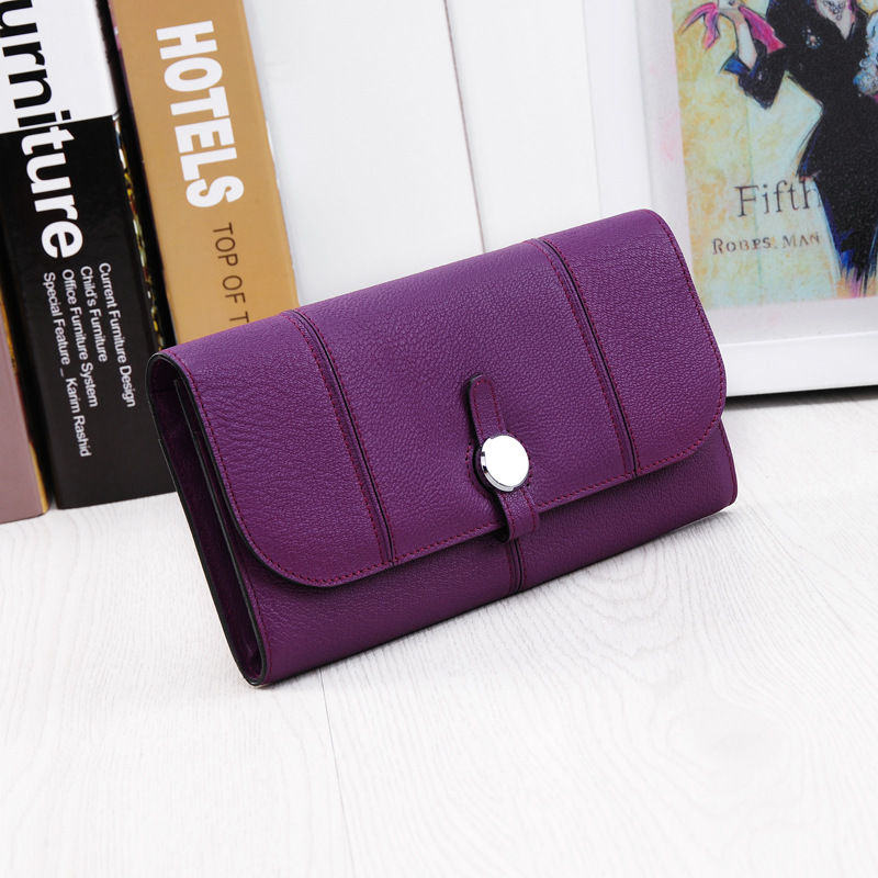 Brand 2016 New High-grade Leather Ladies Purse Clutch Bag Fashion Ms. Long Wallet Cow Leather Clutch Bag Free Shipping<br><br>Aliexpress