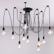 Vintage Fixture Retro Pendant Ceiling Lamp Chandelier Lighting 8 Lights Head(China)