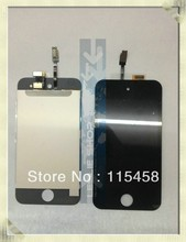 100% New LCD screen with touch digitizer black color for ipod touch 4 by free DHL, UPS or EMS; 20pcs/lot