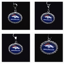 Buy Silver Pendant Charms Rhinestone Denver Broncos Charms Bracelet Necklace Women Men Football Fans Paty Fashion 2017 for $8.46 in AliExpress store
