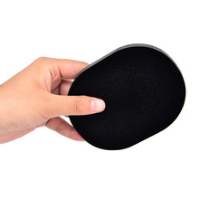 Black Cosmetic Puff Bamboo Sponge Beauty Facial Wash Cleaning Makeup Puff Charcoal Beauty Essentials