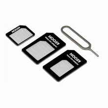 100PCS Micro Nano SIM Card Adapter Connector Kit For iPhone 6 7 plus 5S 5 Huawei P8 lite P9 Xiaomi Redmi 4 Pro 3 Mi5 sims holder(China)