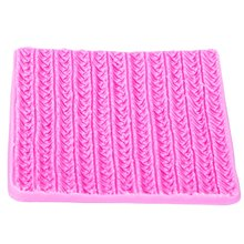 Sweater Fabric Knitting Texture Biscuits Embossed Pad Decorating Lace Mat Tool Silicone Molds Fondant Cake Decorating FT-1117(China)