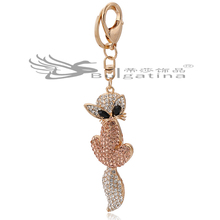 Sexy Fox Key rings For Women,Ladies Key rings Gifts New Design,Fashion Key rings For Sale Low Cost(China)