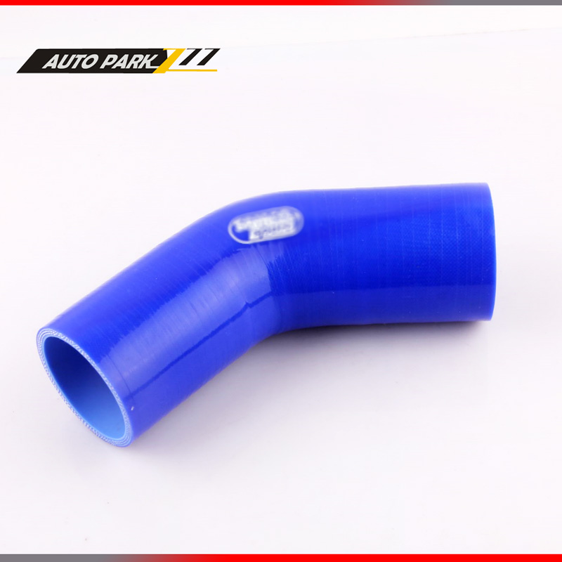 BLUE 54mm 45 Degree Elbow Silicone Hose Pipe Turbo Intake