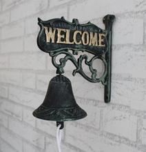 Nordic country retro welcome to the cast iron iron bell hand bells Wind bell doorbell(China)
