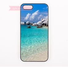 natural trendy blue sea ocean water sky Cover Case For iphone 4 4s 5 5s 5c se 6 6S 7 Plus iPod Touch cases for girl asthetic(China)