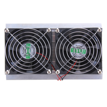 120W 2 x Fan Thermoelectric Peltier Refrigeration Peltier Cooling DIY System Kit Cooler 2 x Double Fan Computer Components(China)