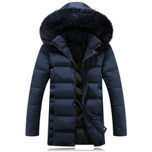 2017 winter new men's explosion model spadded cotton coats with hooded male warm Filled with cotton jacket men collar thick coat(China)