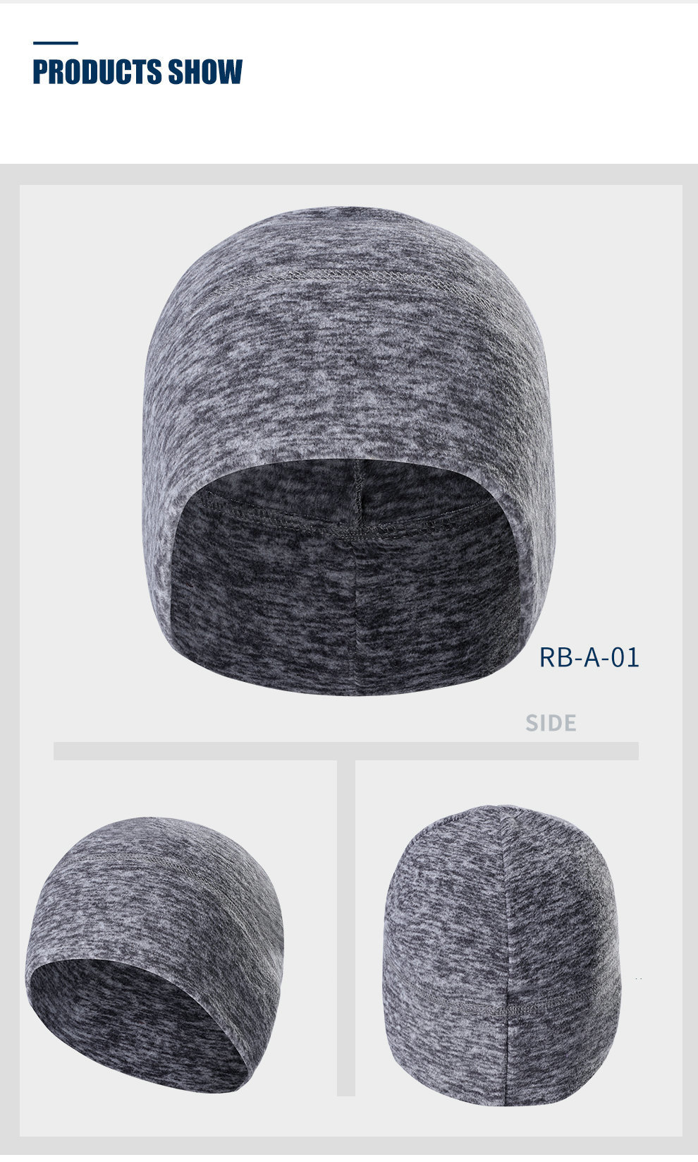 Cycling Cap Fleece Keep Warm Mens Winter Hats Thickened Thermal Head Bandanas for Outdoor Running Skiing Sports Snowboarding Cap (10)