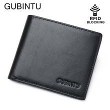 Buy RFID Blocking Wallet GUBINTU Men Genuine Leather Wallet Classics Bifold Credit Card Male RFID Protection Purse for $12.93 in AliExpress store