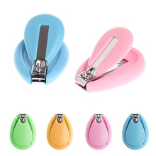 New 1Pc Baby Nail Clipper Safety Cutter Toddler Infant Scissor Manicure Pedicure Care Random Color(China)