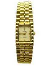 Japan quartz movement Gold plated Lady's Jewelry Watch