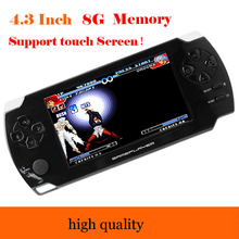 4.3-inch touch screen Handheld Game Player 8GB 1080P LCD Screen MP4 MP5 Video Game Players PSP Games Console with 9000+ Games