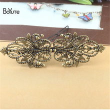 BoYuTe 5Pcs 100*35MM Filigree Flower Hair Clips Pins 6 Colors Plated Vintage Women Head Decoration Accesories(China)