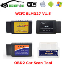 Good Quality V1.5 ELM327 WIFI OBD2 Car Diagnostic Tool Mini ELM 327 WiFi OBD II Scanner ELM-327 WI-FI On IOS / Android Free Ship