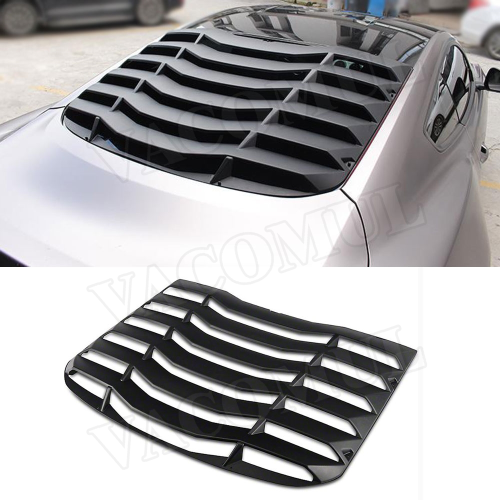 2015-2018 Ford Mustang Lambo Style ABS Black Rear Window Louver Cover 1 PC