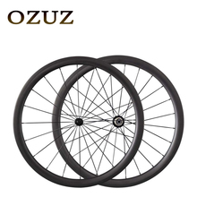 OZUZ 38mm Depth Carbon Wheels Full Carbon Road Bike Bicycle Clincher with Powerway R13 494 spokes Bike Wheels Durable Wheelset(China)