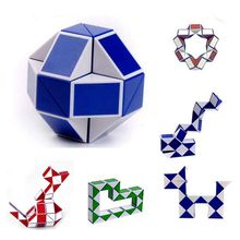 24 Blocks Snake Magic Cube Puzzle Speed Magic Ruler 3D Snake Toys Children Educational Toys Special Christmas Gifts