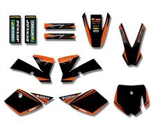 New Style TEAM GRAPHICS&BACKGROUNDS DECAL STICKERS Kits For KTM SX 50CC 50 for KTM50 PIT BIKE(Orange/Black)(China)
