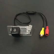 Car Rear View / Back Up / Reverse Camera For Skoda Rapid Hatchback / Liftback 2013~2015 / License Plate Light OEM / RCA NTST PAL(China)