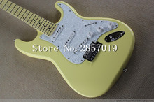 Factory store Scalloped Fingerboard, Dimarzio Pickups, Vintage yellow cream Yngwie Malmsteen Guitar, Big Head ST Electric Guitar