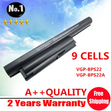 [ NO CD  ] Wholesale New 9cells Laptop battery for SONY  VAIO VPC-E Series  VGP-BPS22  VGP-BPS22A Free shipping