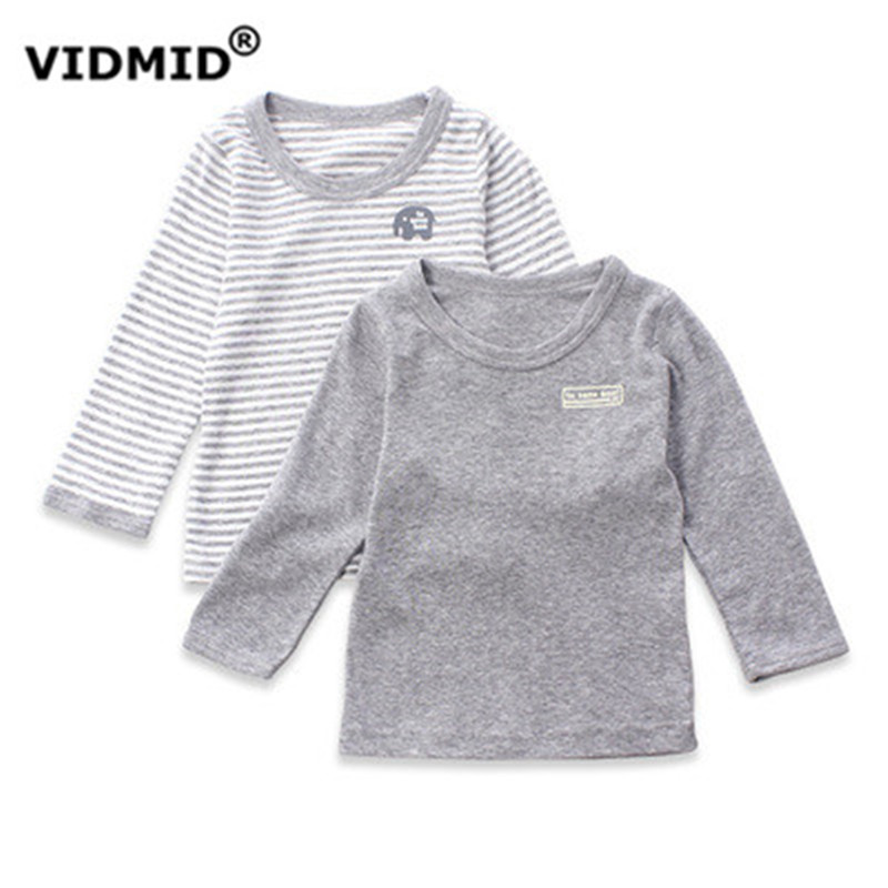 VIDMID 2017 Autumn  Cotton Kids T Shirt Cartoon Long Sleeve Boys Girls T-Shirt Children Pullovers Tee Boys Clothes 4003 04