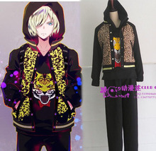 YURI!!! on ICE Plisetsky Yuri Custom Uniform Jacket Pant sports jersey uniform whole set Costume(China)
