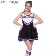 MOONIGHT High School Musical Cheerleader Costume Cheer Uniform Fancy Dress Without Pom poms M L(China)