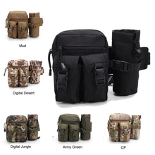 Tactical Military Molle Bag Outdoor Travel Sport Bag Fanny Pack Detachable Water Bottle Holder Waist Belt mini Pouch Pocket(China)