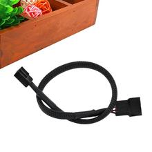 27cm 4 Pin PWM Connector CPU Fan Cable Computer PC Extension Power Cable Extended Lead Line Connector Black