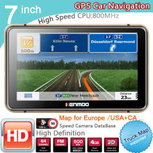 New 7 inch HD GPS Car Navigation 800M/FM/8GB/DDR3 2016 Maps For  Russia/Belarus  Europe/USA+Canada TRUCK Navi Camper Caravan