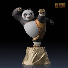 Top Grade Kung Fu Panda Figurine Home Decoration Chinese Brass Copper Ornaments Business Gift