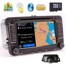 "Pupug FREE CAMERA Included In-Dash 7"" Digital Touch screen DVD Player GPS Navigation System with BT iPod CAN-BUS(OEM Factory Sty(China)"