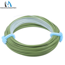 Maximumcatch Tropical Fly Line WF8F/I Floating Fly Fishing Line with Intermediate Tip Sea Grass/Clear 100FT Fishing Line(China)